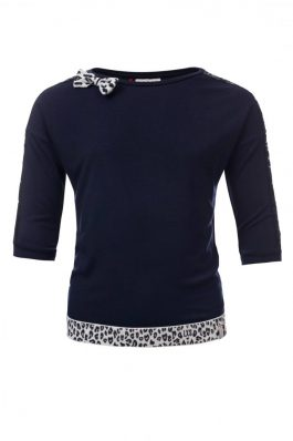Looxs navy shirt lovertjes/strik