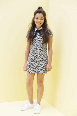 Looxs panter jurk met strik