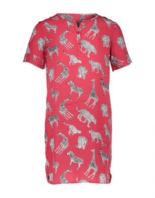Geisha dress zebra red