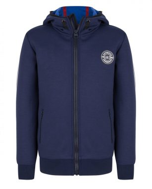 Indian Blue hooded zipper