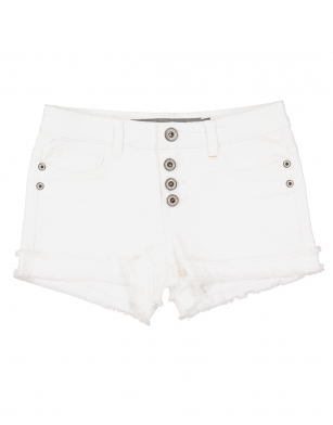 Geisha short denim white