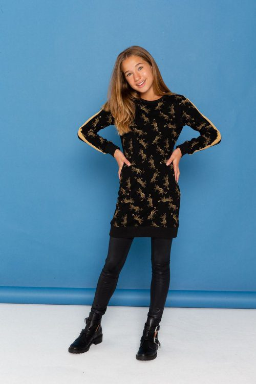 Dress-leopards-with-satin-tape-yellow-14728-500x500
