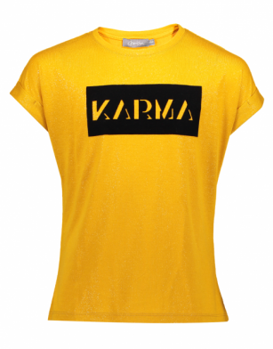 Geisha t-shirt Karma mustard