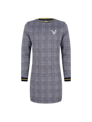 Indian Blue Dress LS check