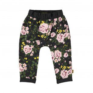 Bess pants AOP roses dessin