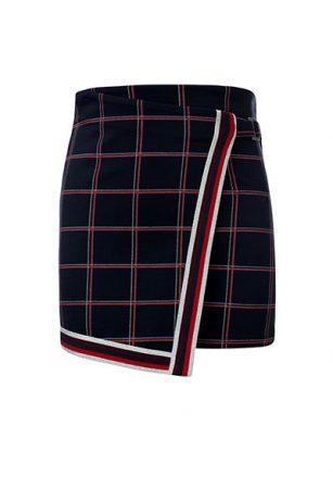 Looxs check skirt marine/rood