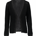 Geisha vest zwart met lurex