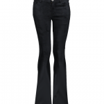 Geisha flared pants fake suede