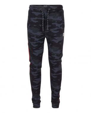 Indian Blue Jog Pant Camo zwart