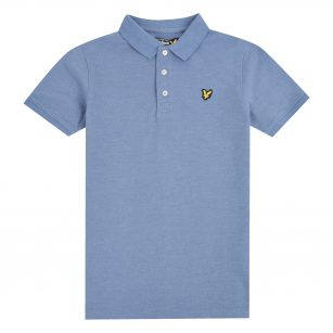 Lyle & Scott classic polo shirt denim blue