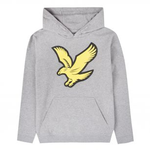 Lyle & Scott logo hoody fleece vintage grey heather