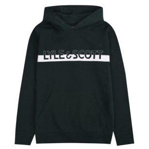 Lyle & Scott Logo block hoodie Pine