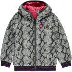 Quapi reversible jacket Tysia dark grey leopard