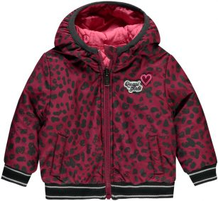 Quapi reversible jacket Vallie bordeaux leopard
