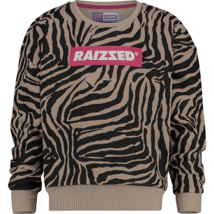 Raizzed sweater Nairobi zebra AOP