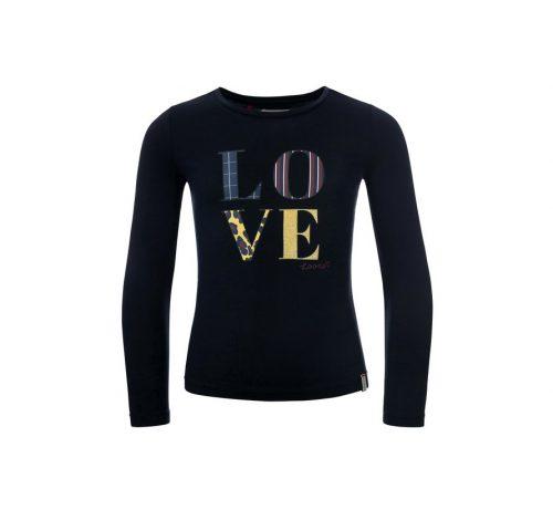 looxs-girls-navy-slim-fit-t-shirt-viscose