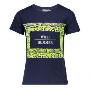 Geisha t-shirt navy into the wild