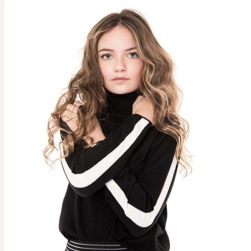 FL19829 Luna knit Black