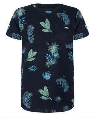 Indian Blue t-shirt ss palm