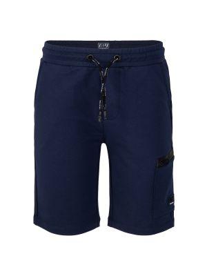 Indian Blue jog short zipper
