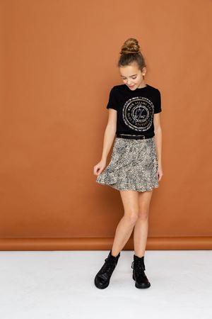 Geisha t-shirt zwart ronde print