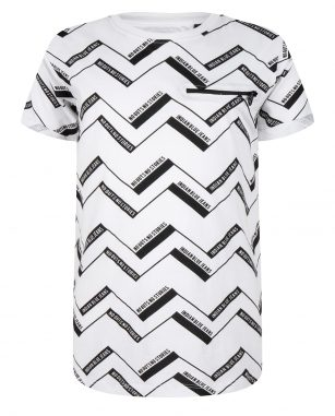 Indian Blue t-shirt ss ao zigzag