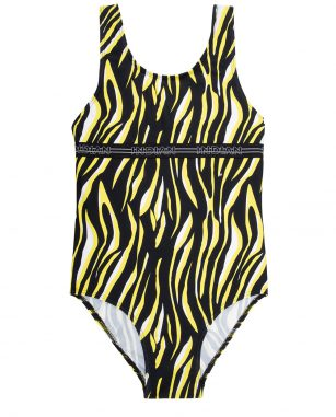 Indian blue swimsuit zebra