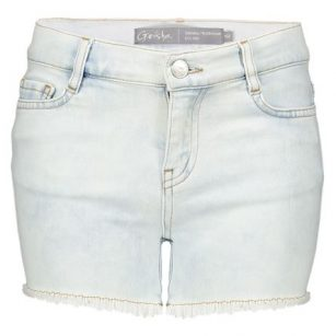 Geisha short denim raw edge