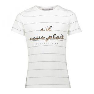 Geisha t-shirt sil vous plait white/black/gold