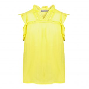 Geisha top sleeveless yellow