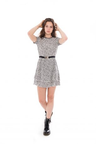 Frankie & Liberty nelin dress off white pattern