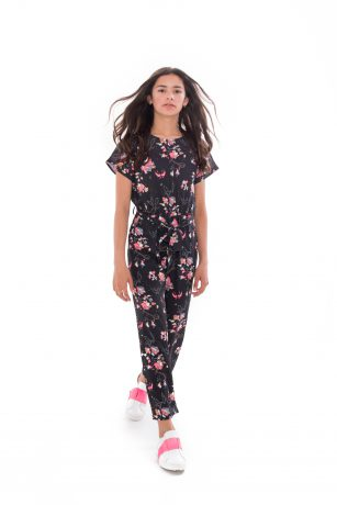 Frankie & Liberty nikkie jumpsuit black flower print