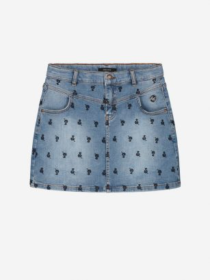 Nik & Nik Snake denim skirt