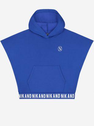 Nik & Nik Lindsey hooded top blue