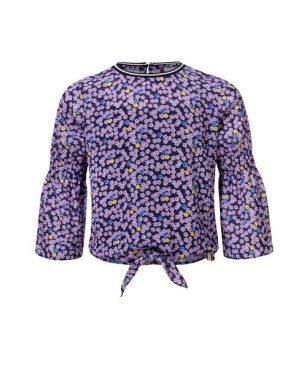 Looxs Flower shirt met knoop