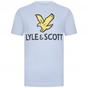 Lyle & Scott logo shirt Chambray blue