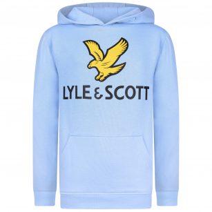Lyle & Scott logo hoodie Chambray blue