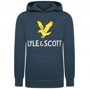 Lyle & Scott Eagle logo hoodie blue