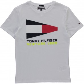 Tommy Hilfiger flag sailing shirt wit