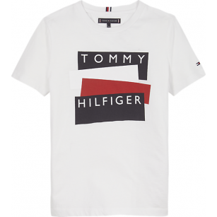 Tommy Hilfiger sticker tee white