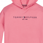 Tommy Hilfiger essential hooded sweatshirt pink
