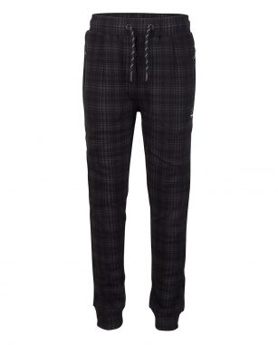 Indian blue jog pant check black
