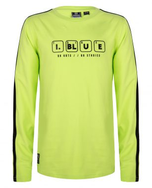 Indian blue t-shirt LS lime