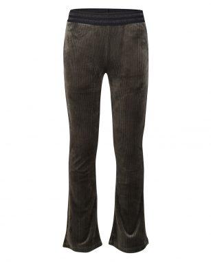 Indian Blue velvet flare pants