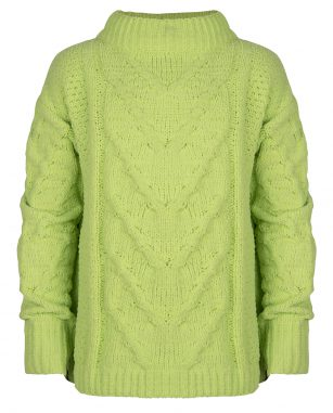Indian Blue Jeans knitwear cable lime