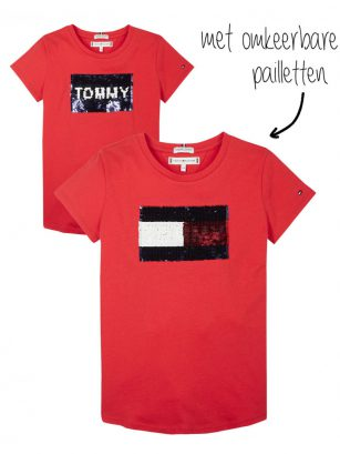 Tommy Hilfiger Flag flip sequins red