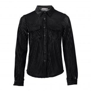 Geisha blouse velours rib zwart
