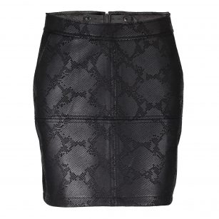 Geisha snake skirt black