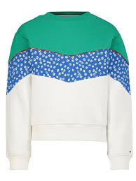 Tommy Hilfiger floral blocking sweater
