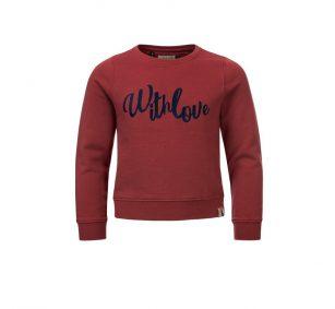 Looxs sweater garment dye mahony